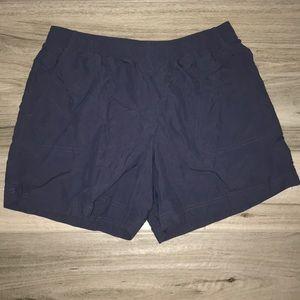 Columbia navy blue athletic shorts